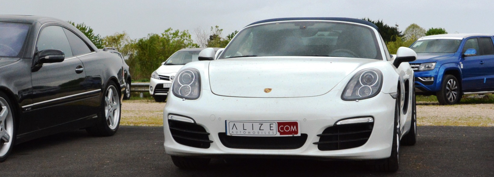Porsche blanche Alizé Automobiles